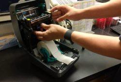 panduan cara setting printer zebra gk420t